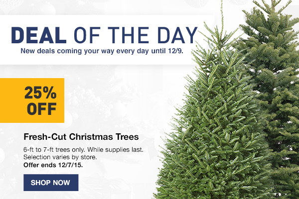 Other emails from Lowes - Lowes: Deal Of The Day: 25% OFF Fresh-Cut Christmas Trees Milled