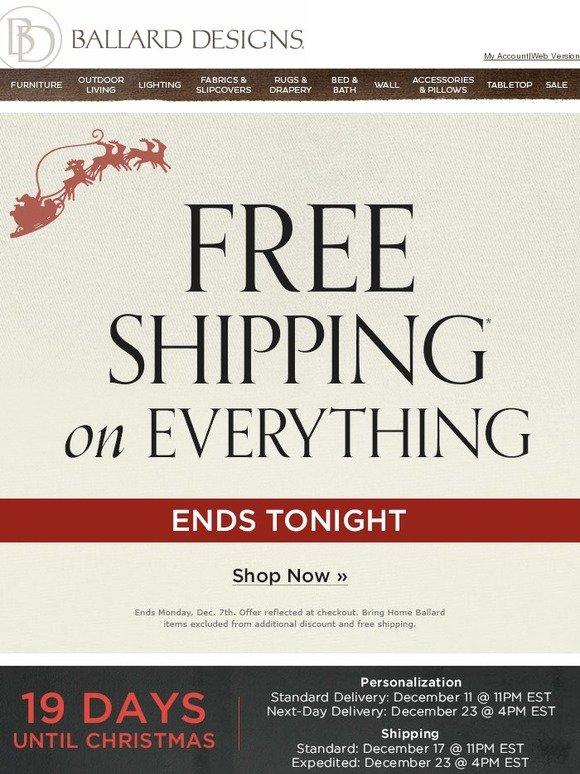Ballard Designs Discount Code ballard designs: hurry! daily deals + sitewide free shipping end