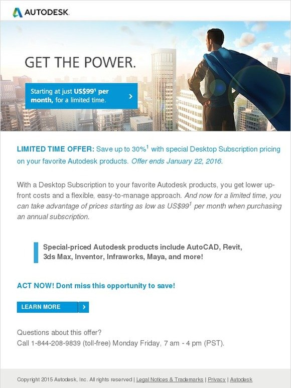 Autodesk: Save the day, plus up to 30% on your favorite