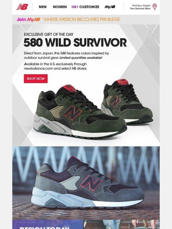 new balance 580 wild survivor