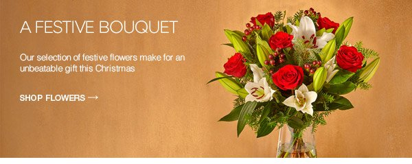 A festive bouquet: Our selection of festive flowers make for an unbeatable gift this Christmas