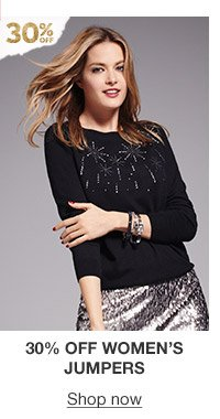 30% off women's jumpers