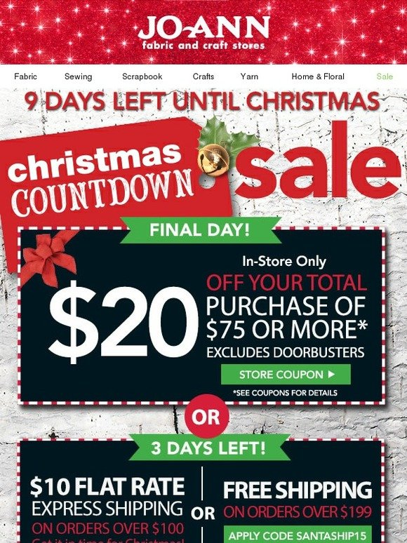Jo ann fabric and craft store the gifts they want at the for Jo ann fabric and craft coupons