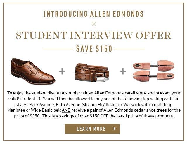 Allen Edmonds: Students Save $150   Milled