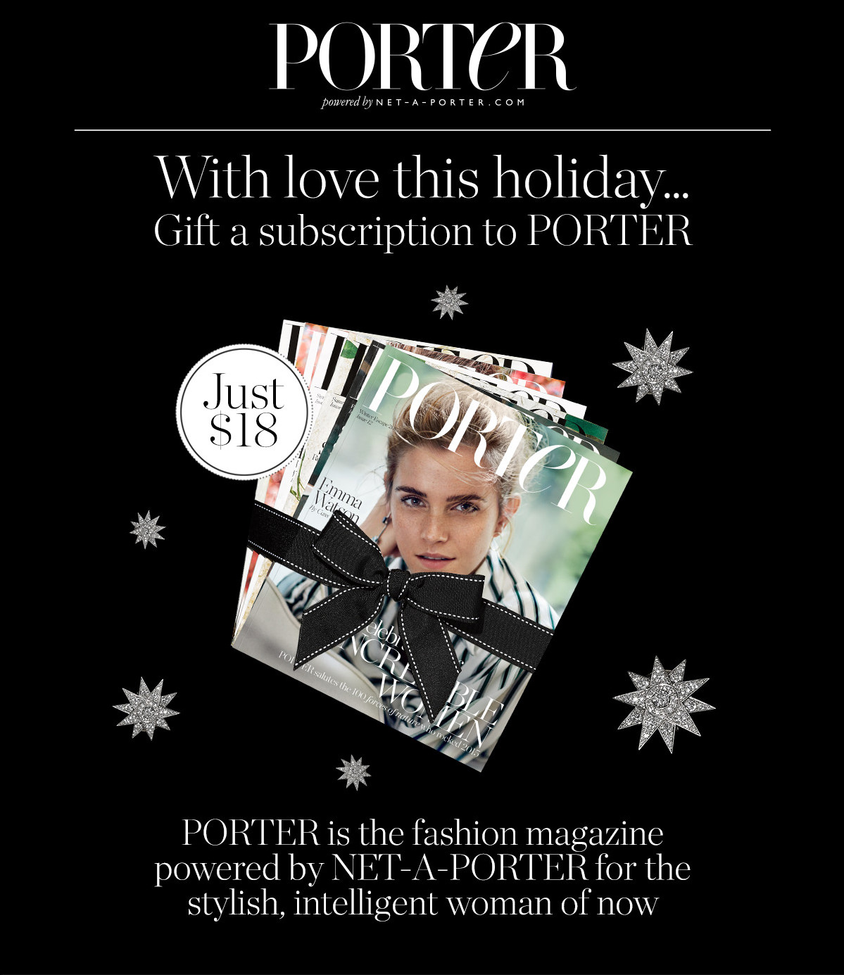 62c504d285ad91 Net-A-Porter  With love this holiday… gift a PORTER subscription ...