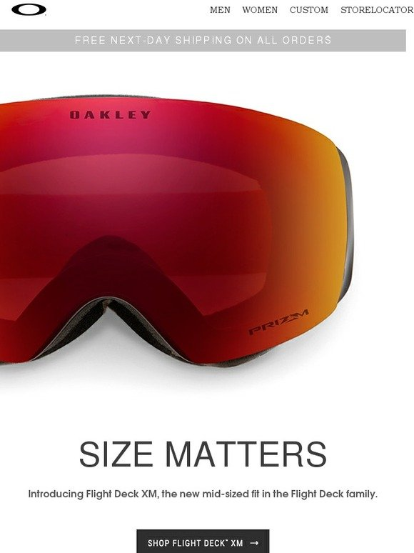 ed2b82329a Oakley  ONE SIZE DOES NOT FIT ALL