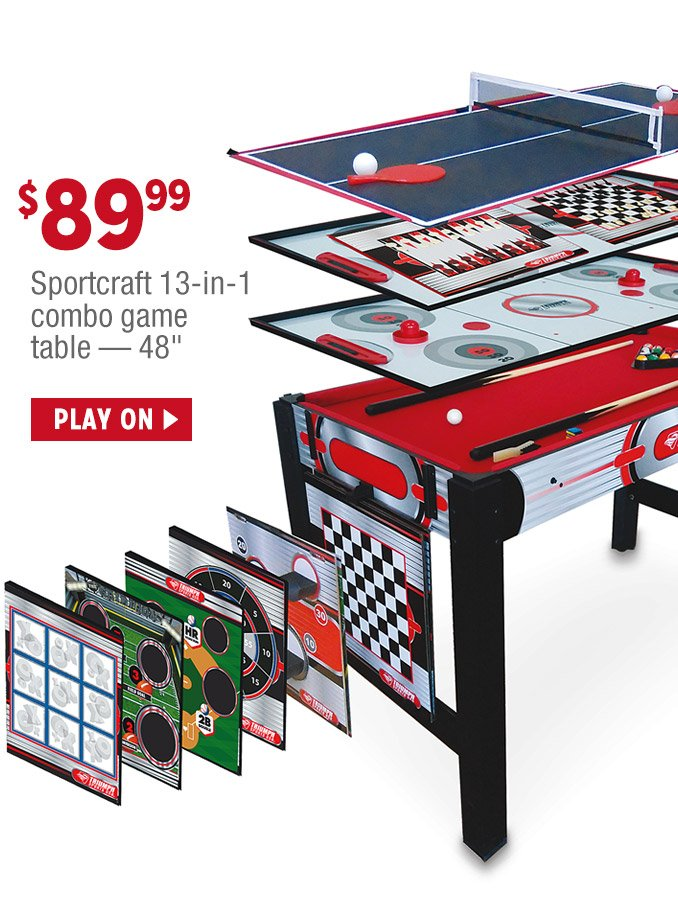 $89.99 Sportcraft 13 In 1 Combo Game Table U2014 48 In. | PLAY
