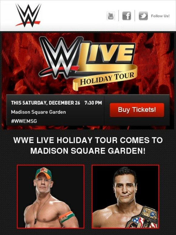 Wwe Shop This Saturday Wwe Live Holiday Tour Comes To New York Milled