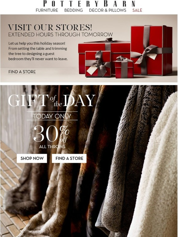 Pottery Barn Good Tidings 30 Off All Throws Candles