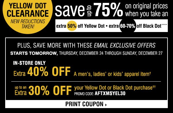 photo relating to Younkers Printable Coupons named Younkers coupon yellow dot : Hhonors discount coupons
