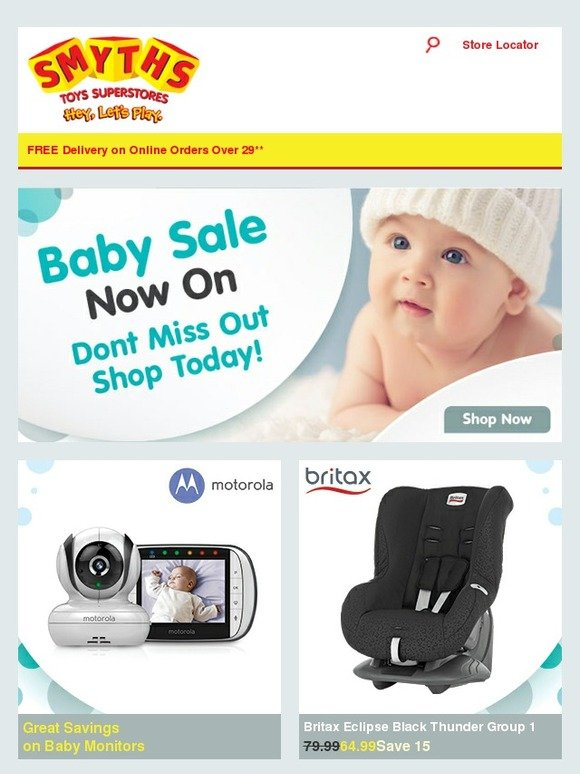smyths toys hq baby sale now on great savings on car seats cots monitors many more milled. Black Bedroom Furniture Sets. Home Design Ideas
