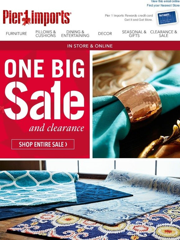 Pier 1 Imports does have specific outlet stores where shoppers can purchase clearance items. There are 15 of these stores in total, and they are all in the United States. Though these outlet stores are only located in the United States, someone from another country can still purchase clearance and discounted items by shopping online at Pier 1.