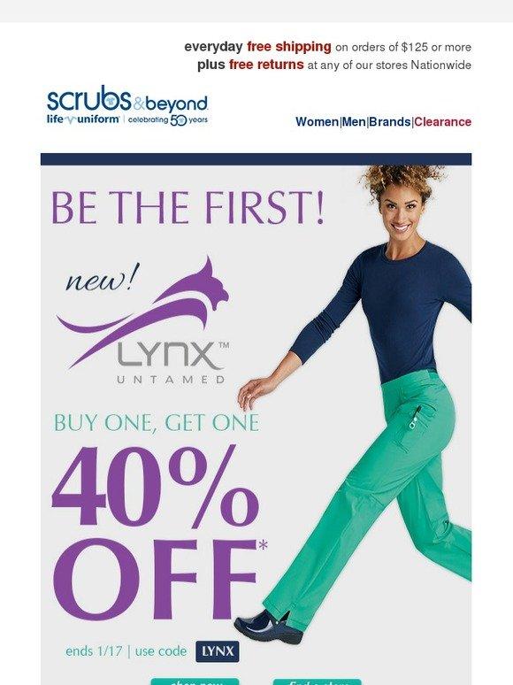 e51b77bf504 Scrubs & Beyond: Introducing new Lynx Untamed - BOGO 40% | Milled