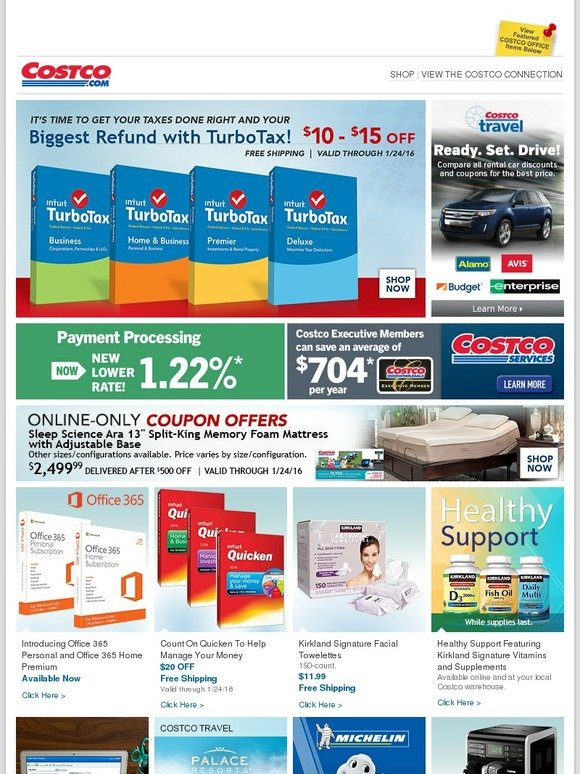 Costo: Online-Only Savings for the New Year! TurboTax