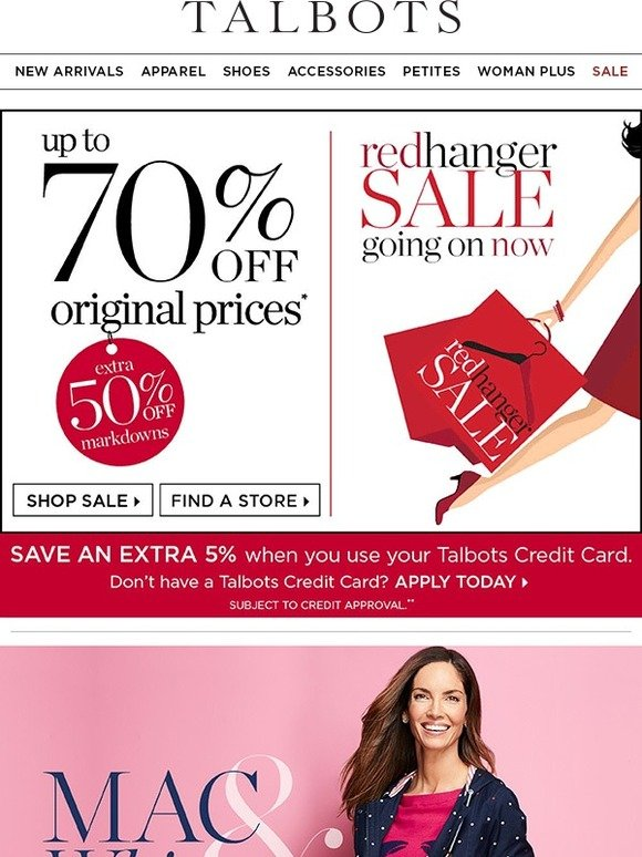 Talbots: We've Kicked Red Hanger Up A Notch!