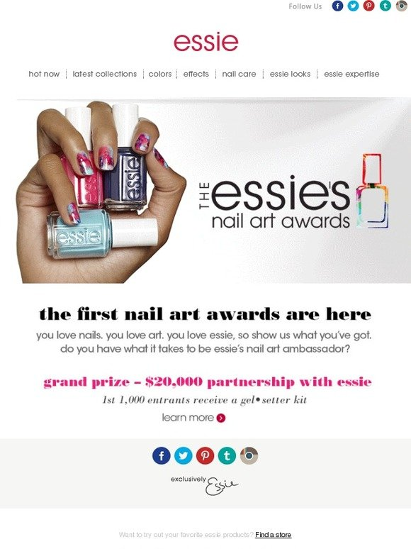 Essie: enter the essie nail art awards | Milled