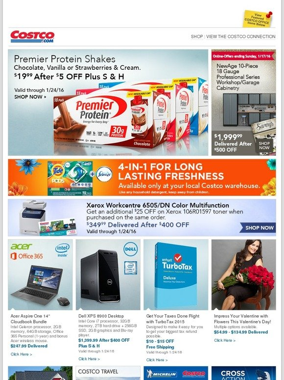 Costo: Online-Only Offers Ending Sunday! Save on Premier Protein