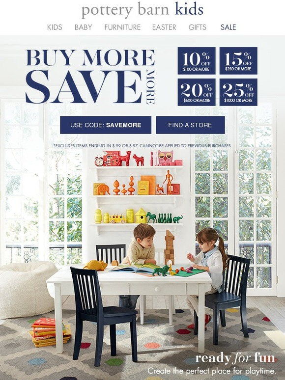 pottery barn kids everything you want all on sale up to 25 off milled. Black Bedroom Furniture Sets. Home Design Ideas