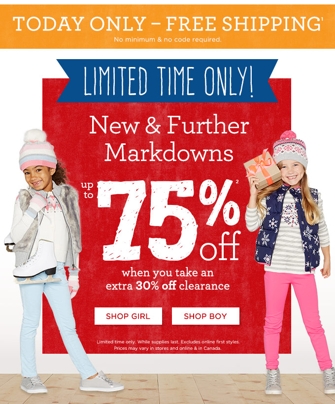 Free Shipping Today: Gymboree: Surprise! Free Shipping TODAY ONLY