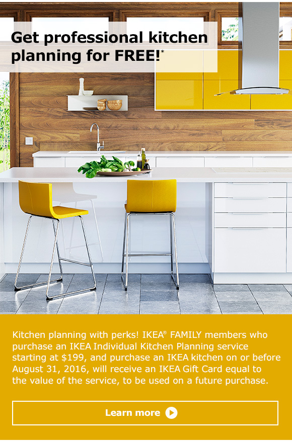 Ikea plan your new kitchen for free milled for Planning a new kitchen