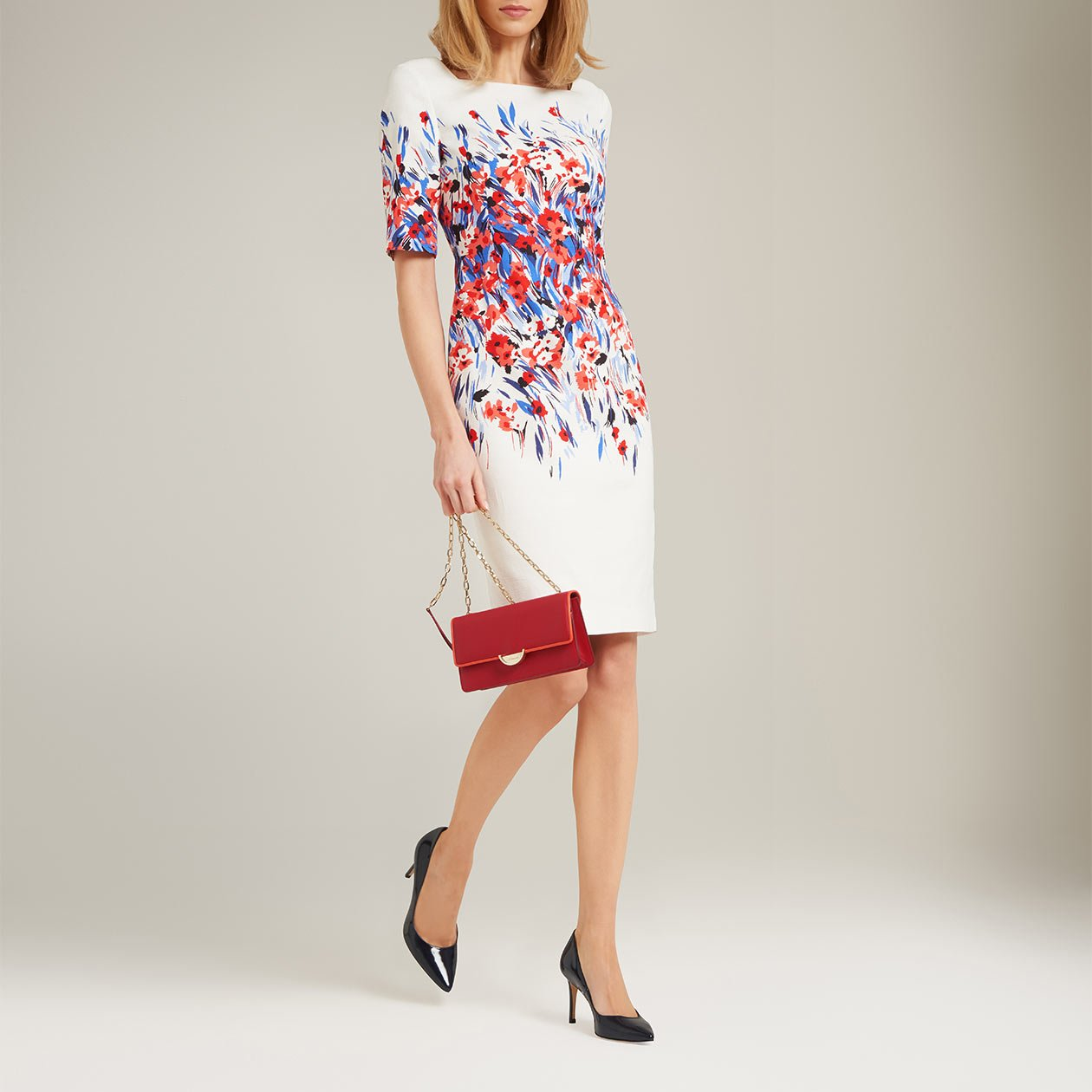 L k bennett lasana floral dress for Lk bennett wedding dress