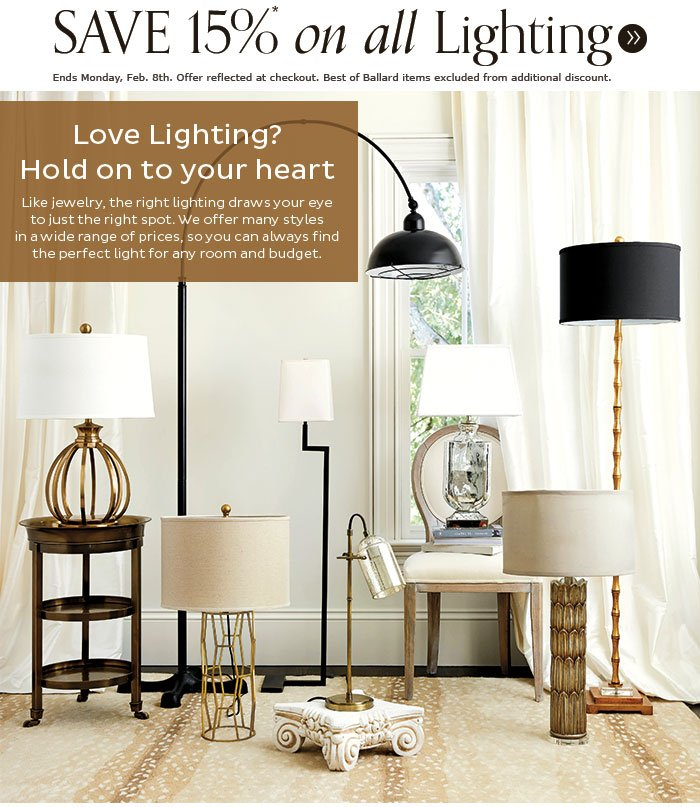 ballard designs we 39 re lighting the way to great savings. Black Bedroom Furniture Sets. Home Design Ideas