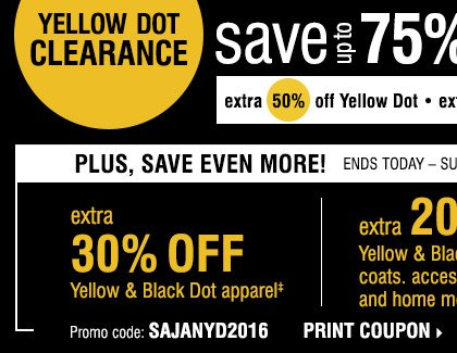 picture relating to Younkers Printable Coupons titled Yellow dot coupon younkers - Printable discount coupons for