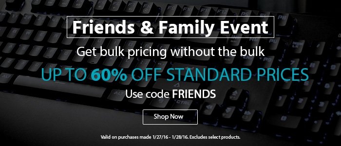 Monoprice Friends Amp Family Event Get Bulk Pricing Up To