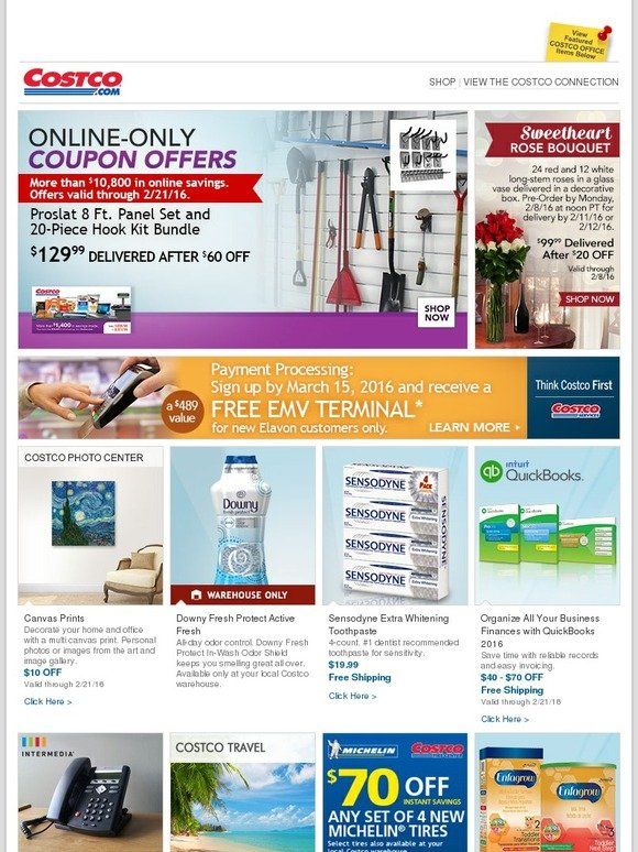Costo: Online-Only Savings! Sweetheart Rose Bouquets, Intuit