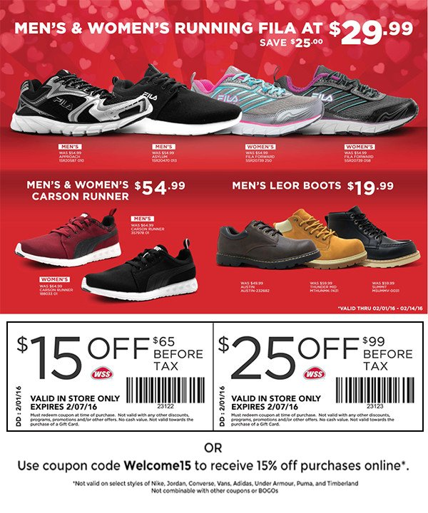 Wss shoes coupons in store
