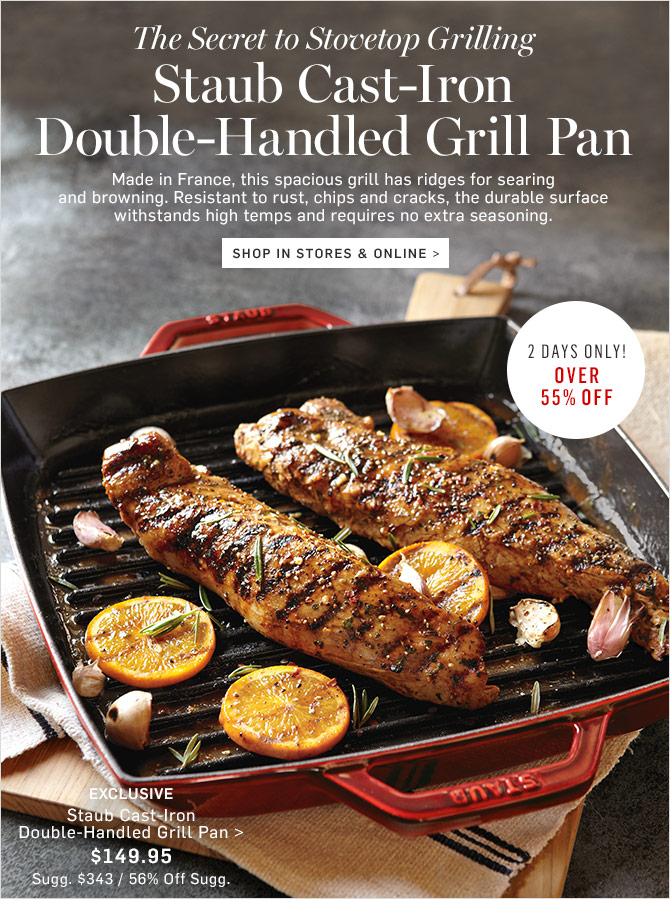 the secret to stovetop grilling staub castiron grill pan - Staub Grill Pan