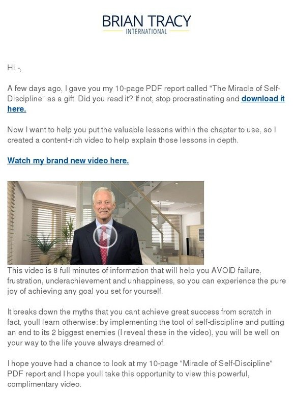 Brian Tracy Content Rich Video Inside How To Avoid Failure And
