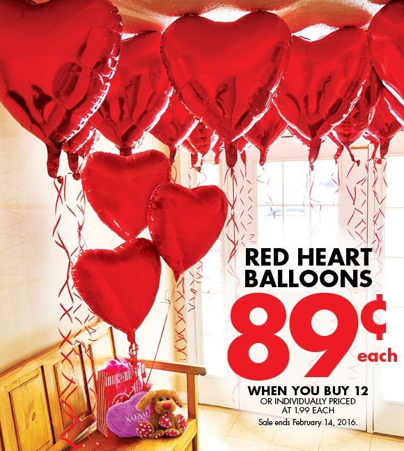 Party City: 89¢ Valentineu0027s Balloons + Save $20! | Milled