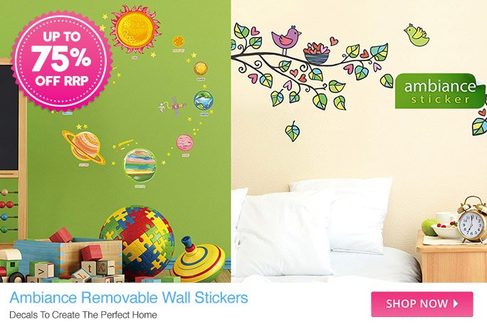 Ambiance Wall Stickers dealsdirect: ambiance removable wall stickers | linen house super