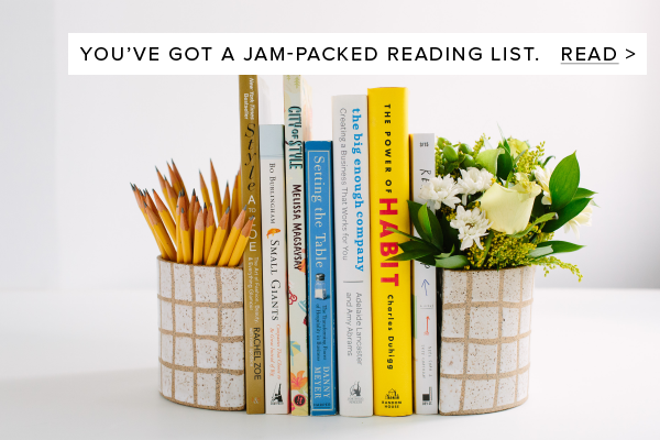 You've got a jam-packed reading list.