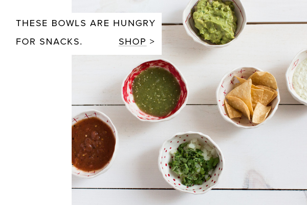 These bowls are hungry for snacks.