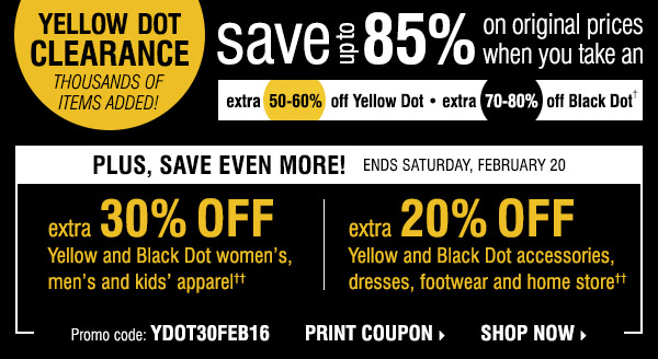 Yellow box boutique coupons