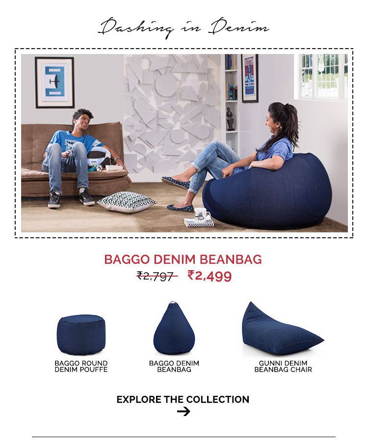 Denim Beanbag