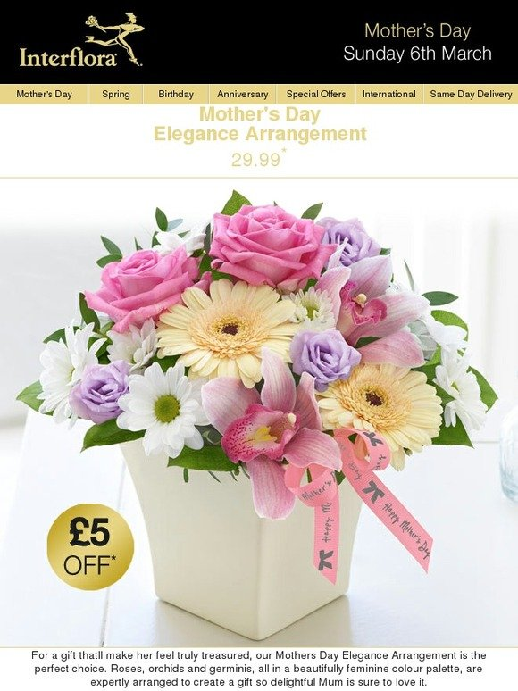 Send Flower Arrangements to Mumbai or Any Other City in India from Interflora Timely flower delivery is one of the most crucial factors of gifting flowers. At Interflora, it is our conscious effort to ensure that each flower bouquet is delivered in stipulated time so that their freshness remains intact.