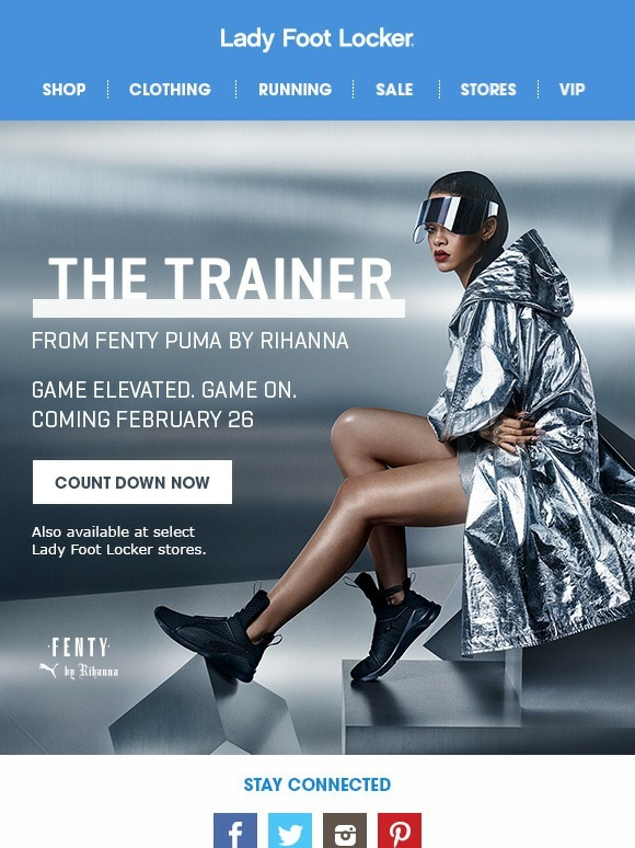 06cca5ada9 Lady Foot Locker: Launching Tomorrow - The Trainer from Fenty Puma by  Rihanna | Milled