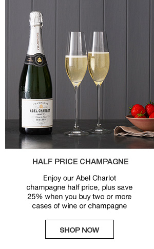 Half price champagne : Enjoy our abel charlot champagne half price, plus save 25% when you buy two or more cases of wine or champagne