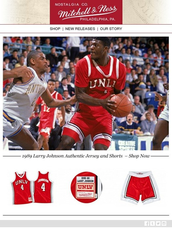 low priced 9d20e 873ef Mitchell & Ness: New Release - 1989 Authentic UNLV Shorts ...