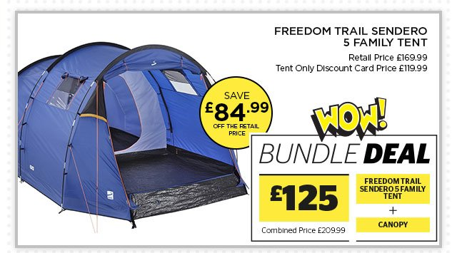 Freedom Trail Sendero 5 Family Tent Bundle  sc 1 st  Milled & Go Outdoors: Wow Deals! Huge savings on tent bundles | 20% off OEX ...