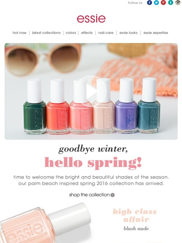 Essie: unveiling the all new spring 2016 collection   Milled
