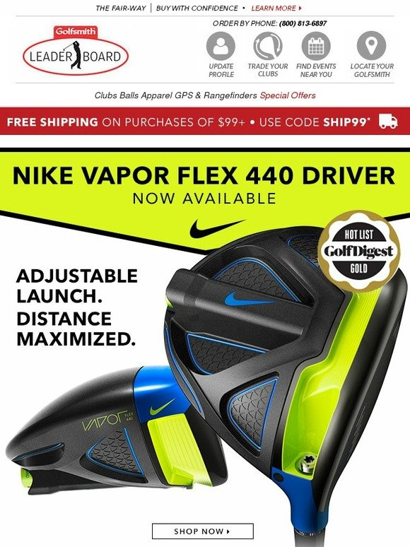 Golfsmith New Nike Vapor Flex 440 More Milled