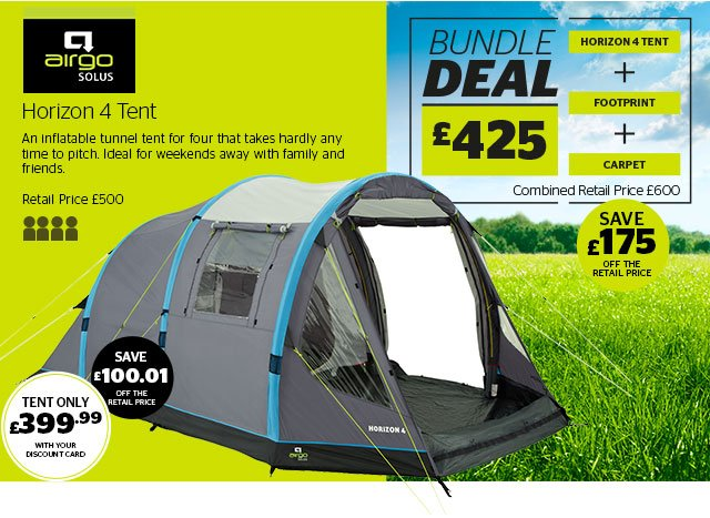 Airgo Solus Horizon 4 Tent  sc 1 st  Milled & Go Outdoors: New season tents from Vango Outwell Airgo u0026 Hi Gear ...