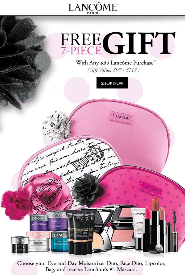 Carson's: Lancôme FREE 7-pc. Gift w/any $35 Lancôme Purchase ...