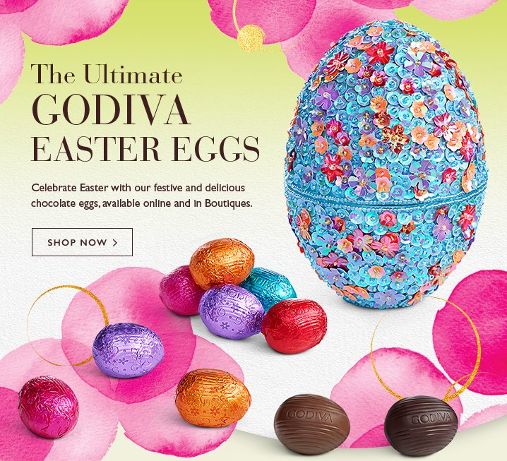 Godiva starts now free shipping on all easter gifts milled the ultimate godiva easter eggs shop now negle Choice Image