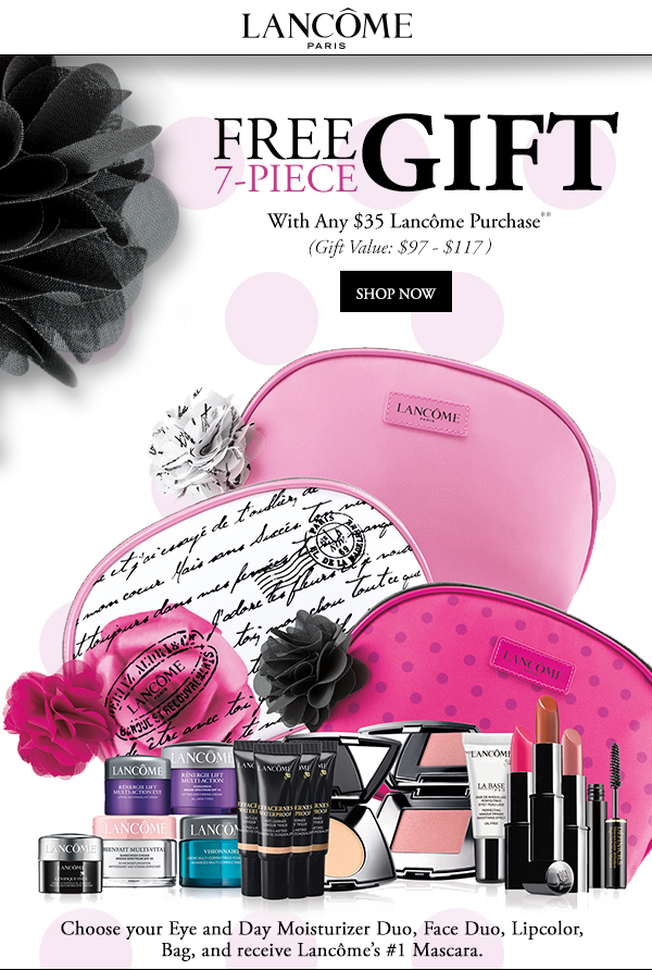 Herbergers: Lancôme FREE 7-pc. Gift w/any $35 Lancôme Purchase ...