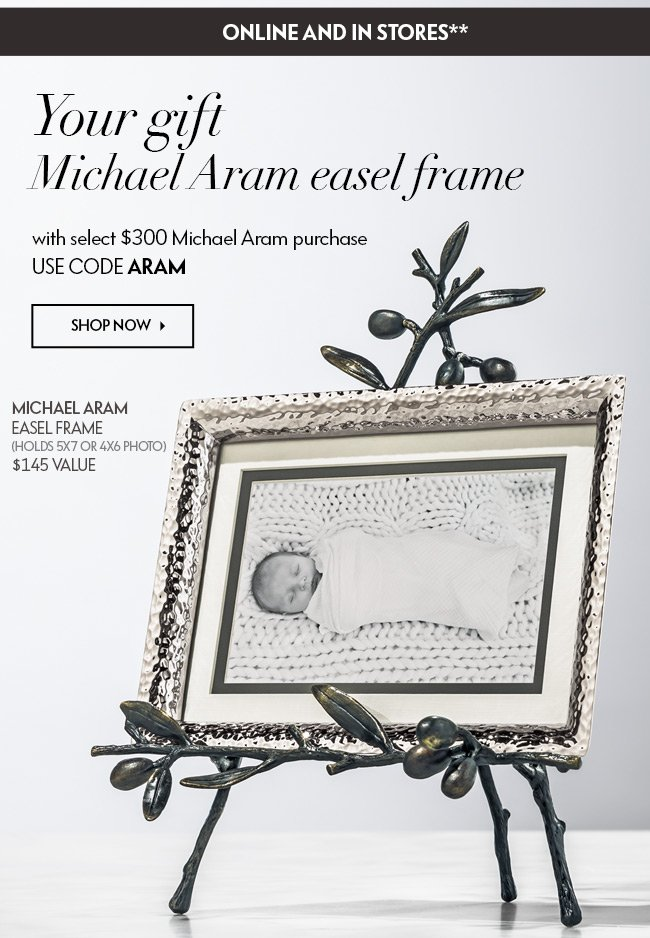 Neiman Marcus: Free Michael Aram frame with purchase | Milled